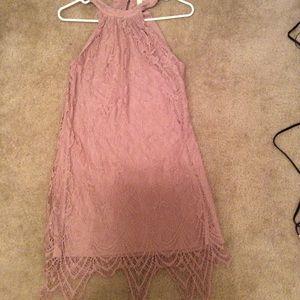 Miami blush lace lined choker dress size small